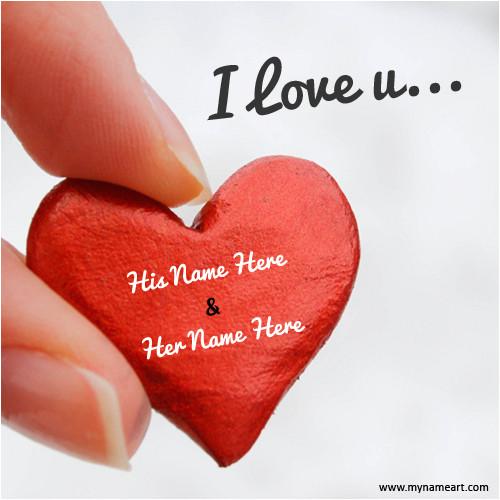couple name on i love you heart