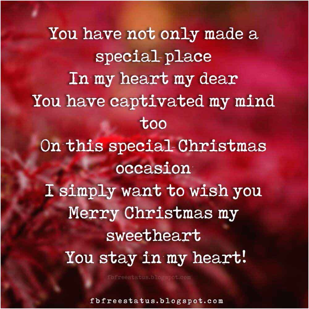 christmas love messages wishes