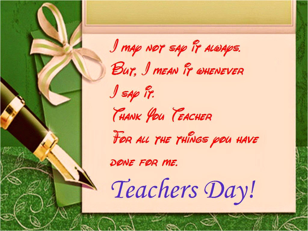 good wishes messages cards for teachers