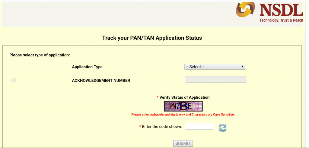 how to track pan card delivery status