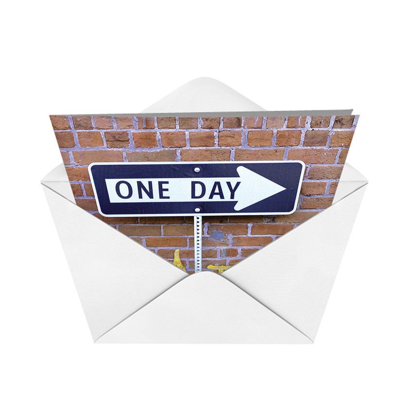 9707k one day at a time humor not greeted card nobleworks