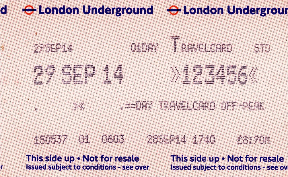 Paper One Day Travel Card Focus Transport Tfl New Year Fares Into Effect From January