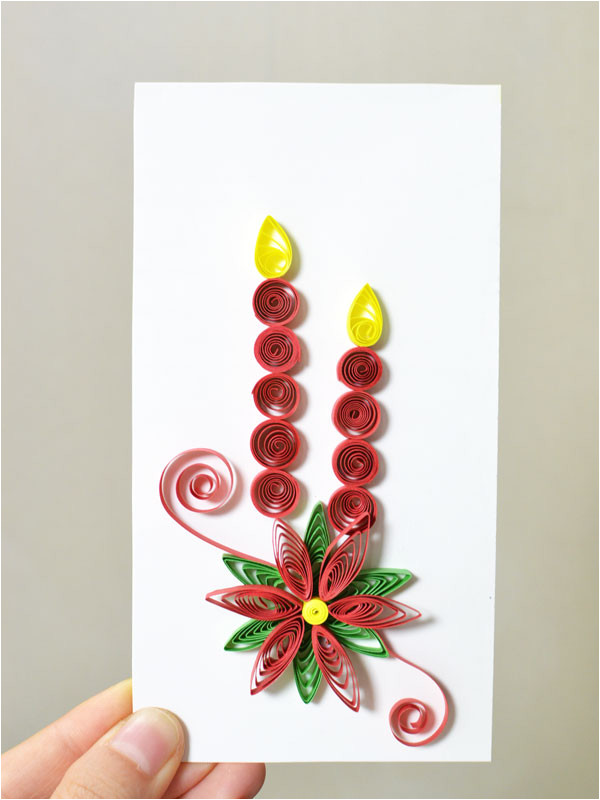 2749 how to make new year paper quilling greeting cards