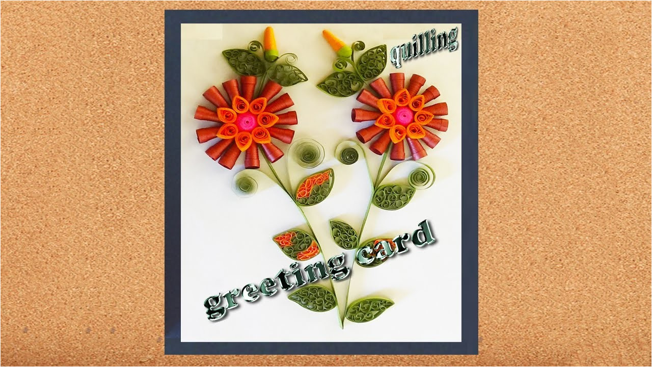 paper quilling happy new year in 2016 greeting cards