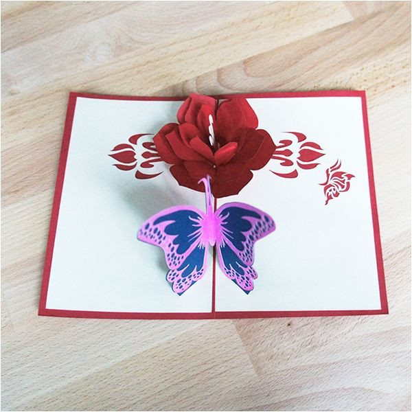Pop Up Card Flower and butterfly Flower and butterfly Pop Up Card with Images