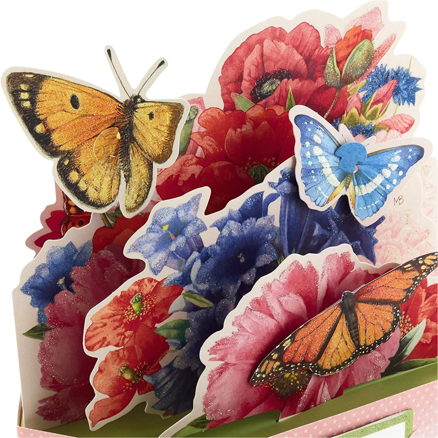 review hallmark pop up mothers day card or birthday card marjolein bastin displayable butterfly and flower bouquet