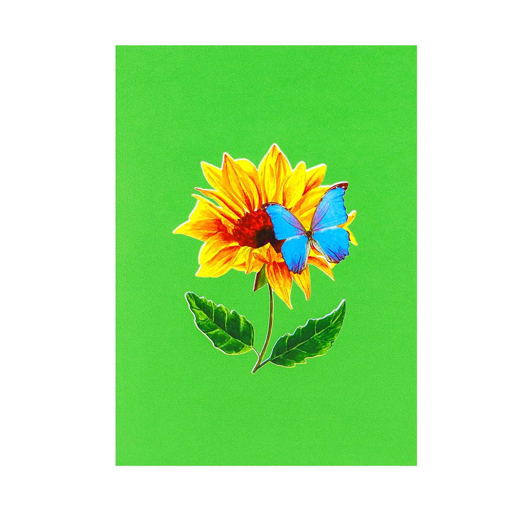 sunflower butterfly pop up card
