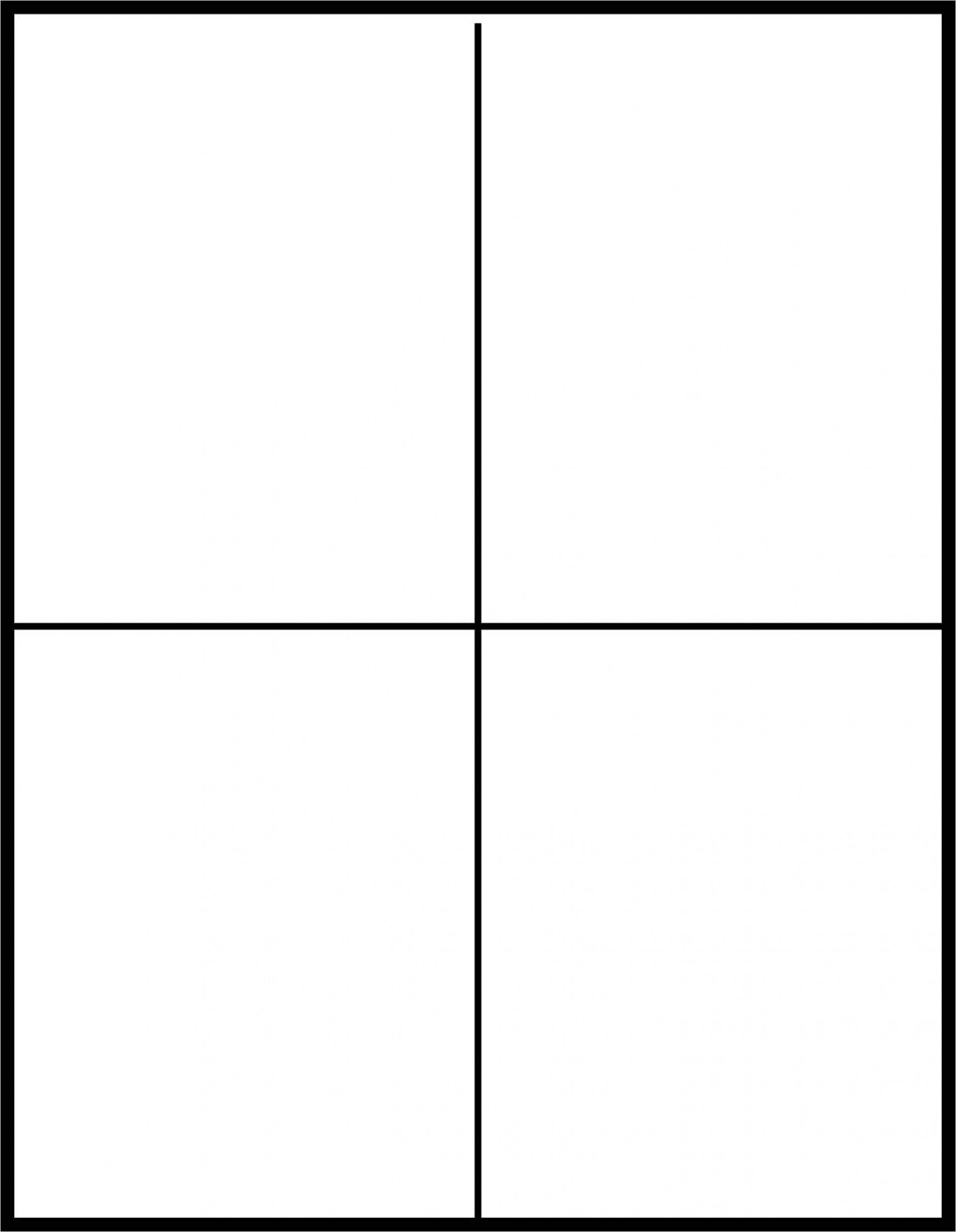 quarter fold card template