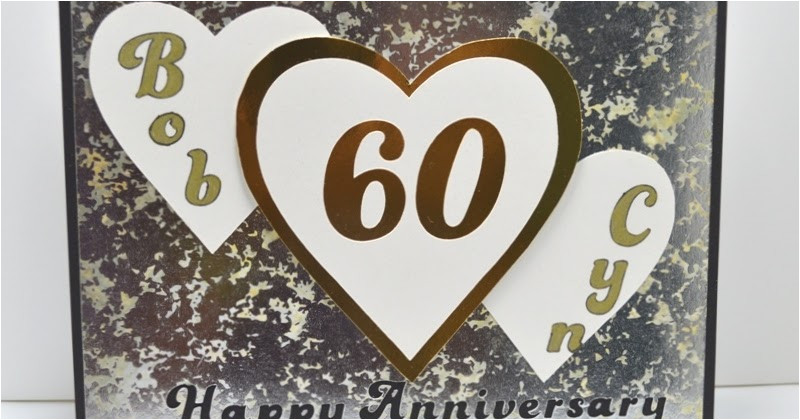 personalized 60th anniversary card with