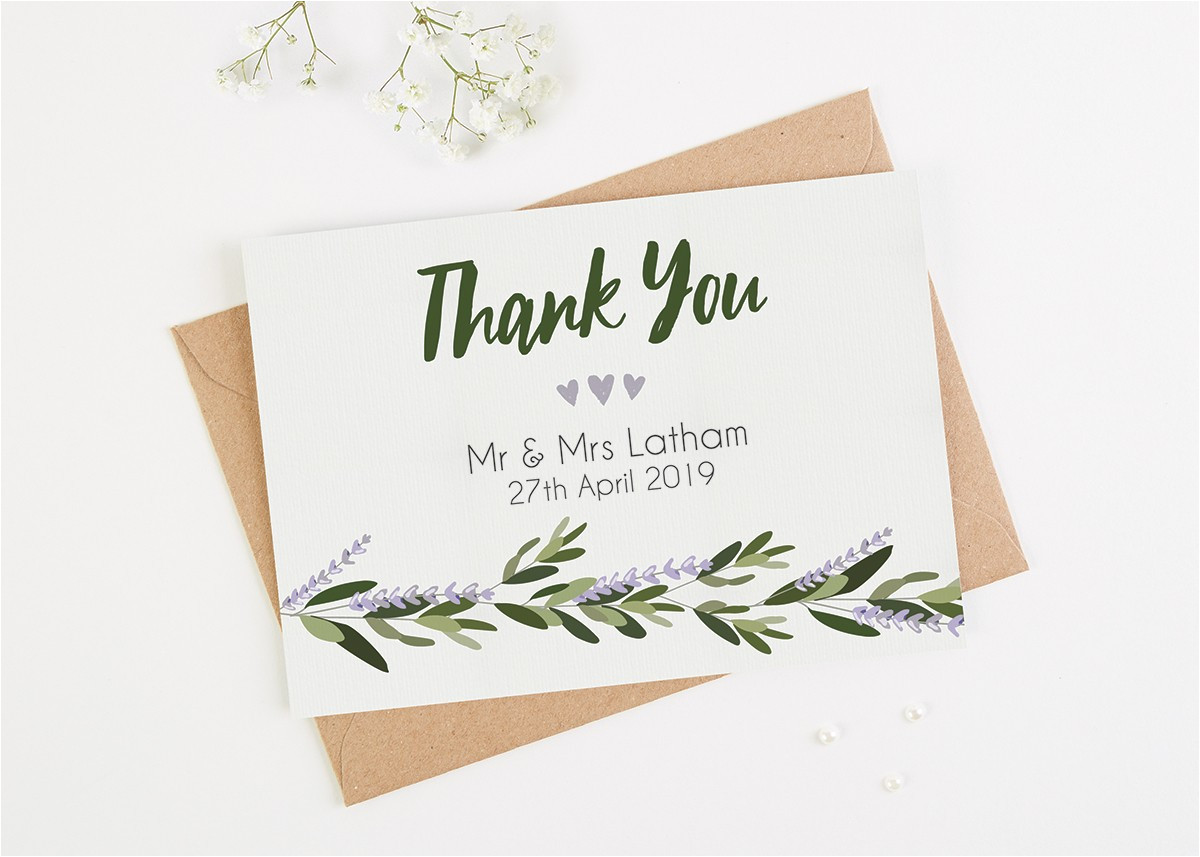 10 wedding thank you card examples youll love