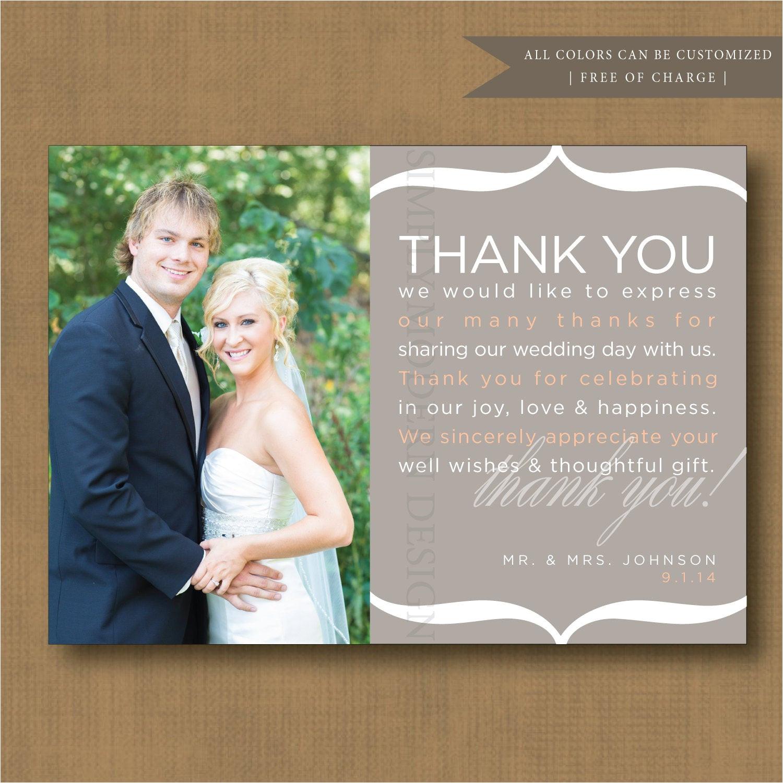 pre written thank you note wedding thank