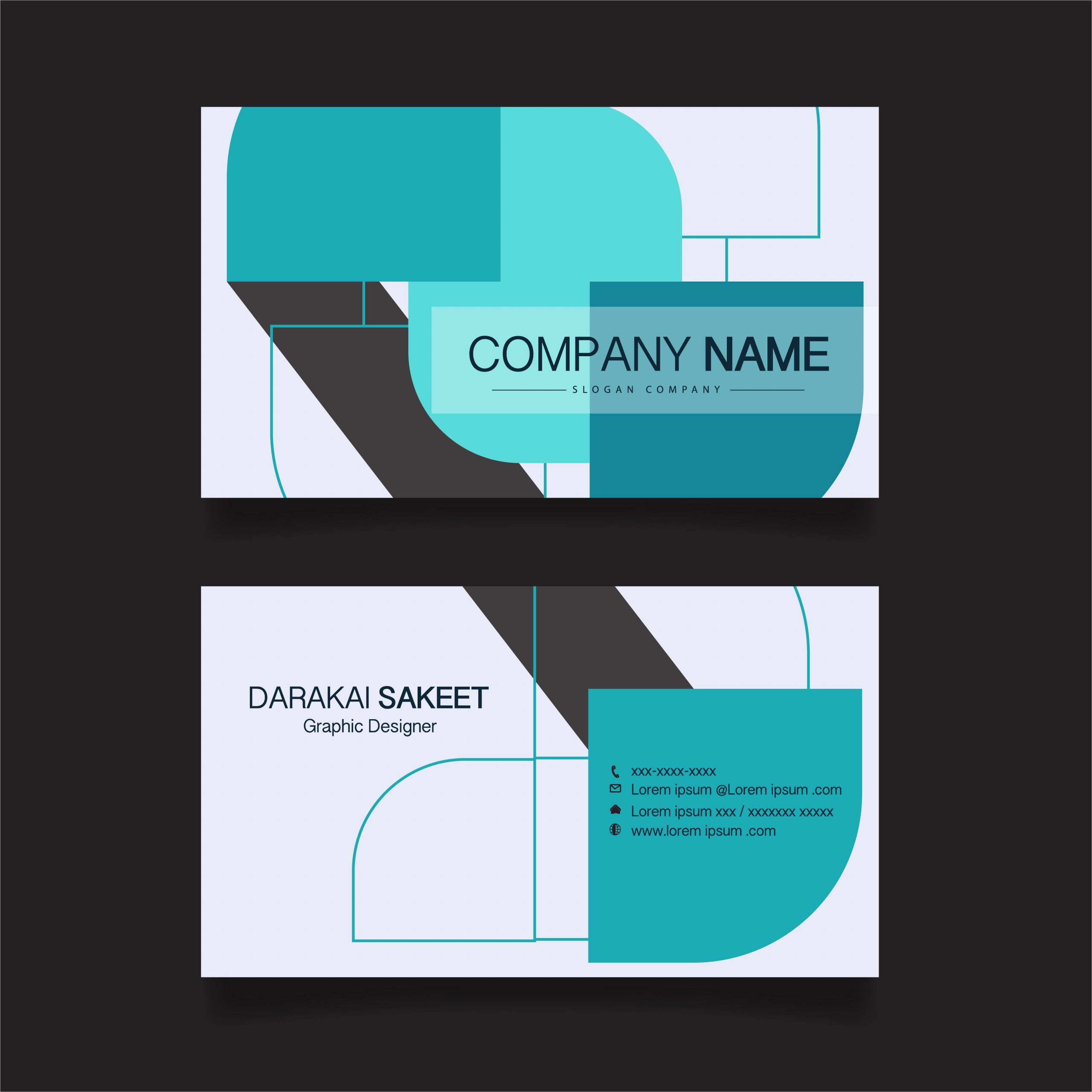 name card modern simple business card template vector illustration