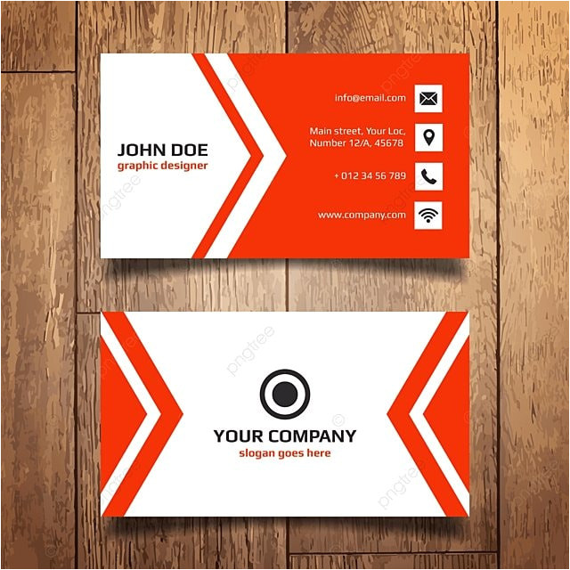 Simple Name Card Template Free Simple Red and White Name Card Template for Free Download