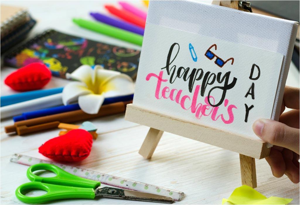 handmade teachers day card ideas for kids