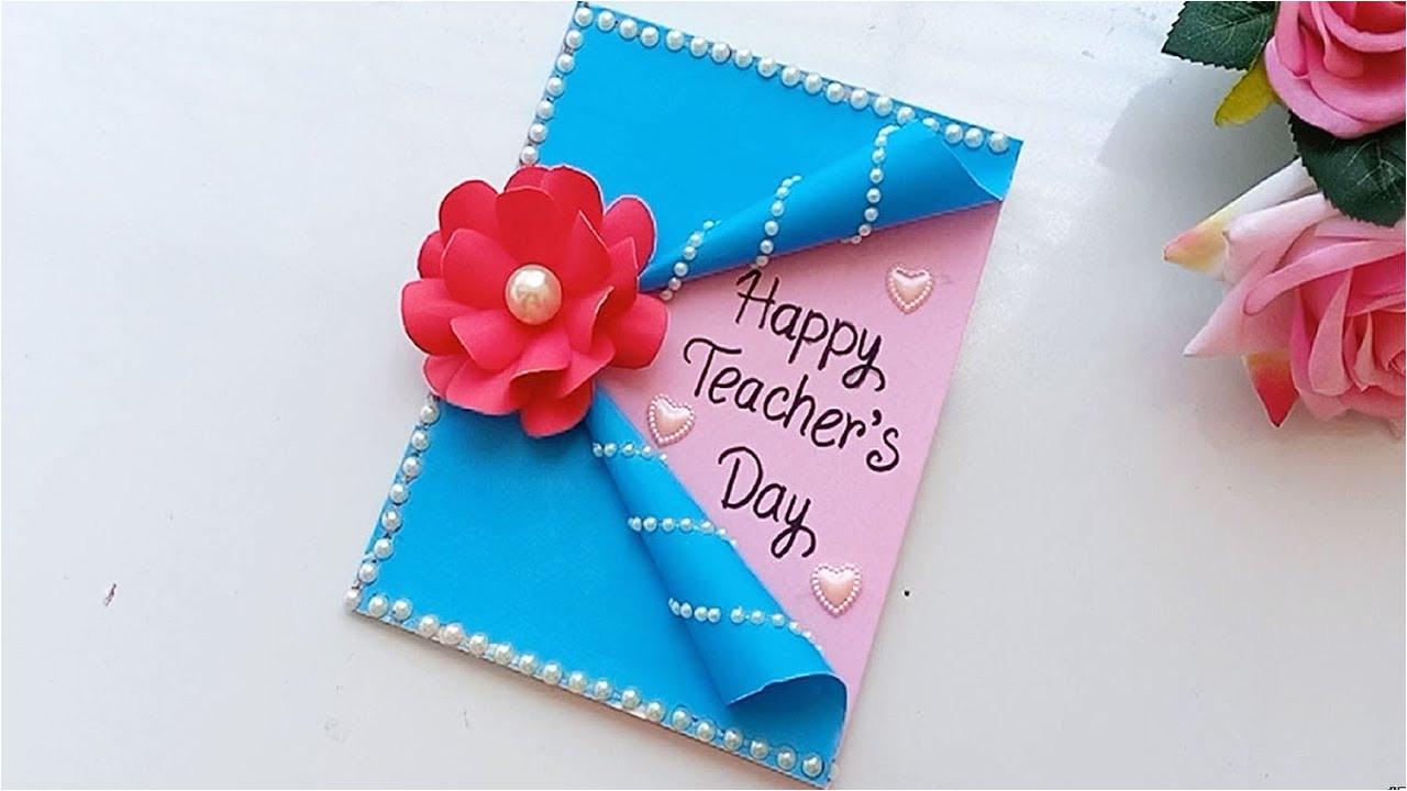 Teachers Day Card Ideas Simple Diy Teacher S Day Card Handmade Teachers Day Card Making