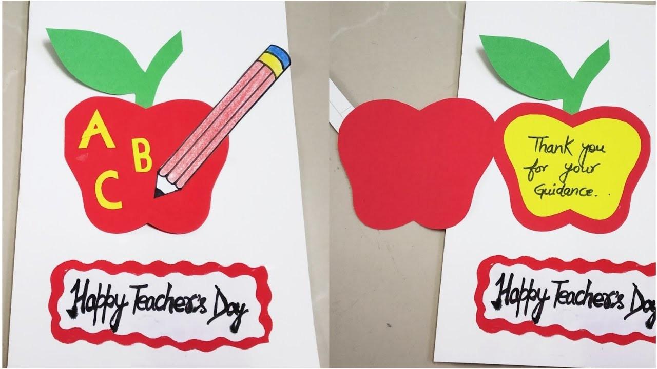 diy teacher s day card easy teacher s day card making teacher s day card idea for kids greeting card