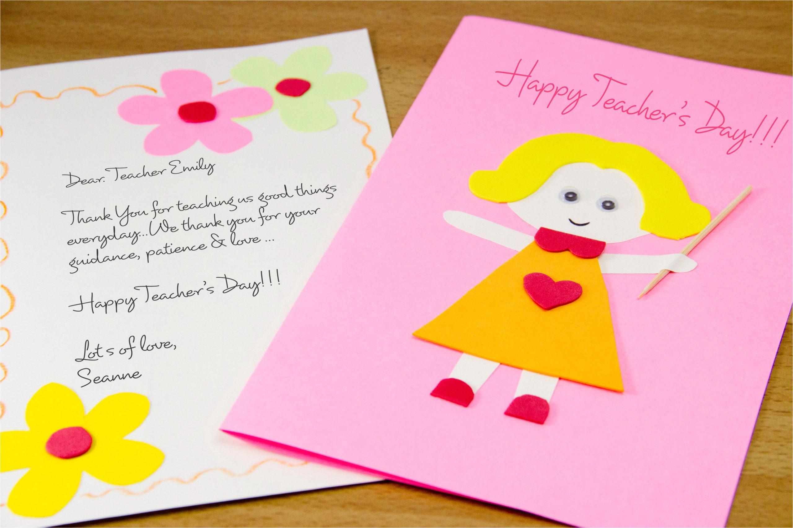 Make a Homemade Teacher's Day Card