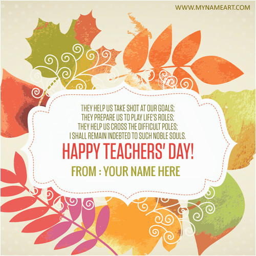 5th september teachers day greeting in english
