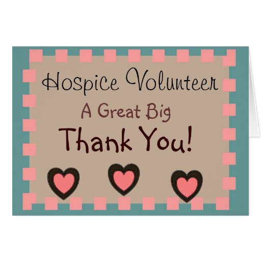 hospice volunteer thank you cards