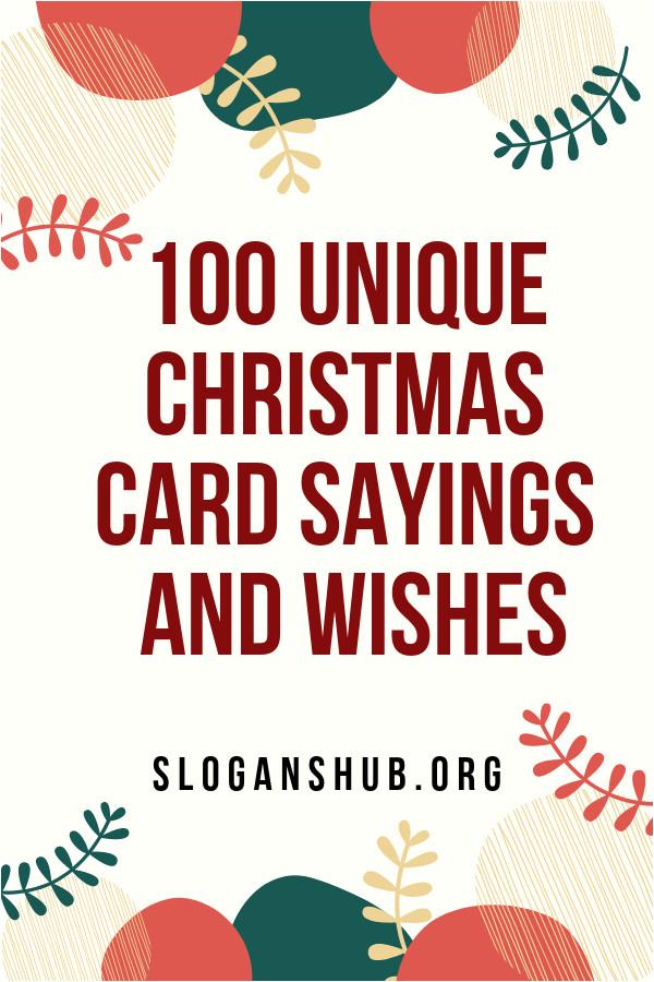 Unique Christmas Card Sayings Quotes 100 Unique Christmas Card Sayings and Wishes
