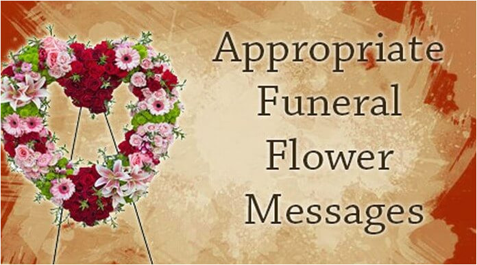 appropriate funeral flower messages