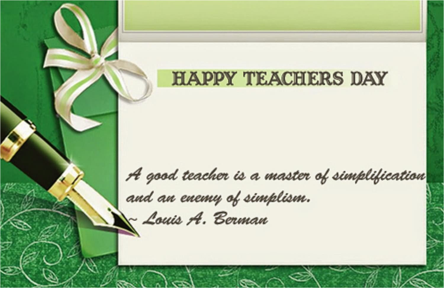 messages to write on teachers day card