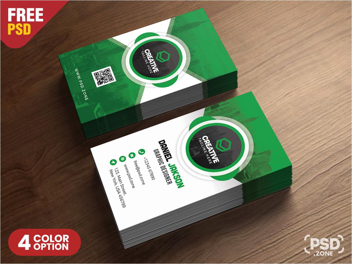 creative business cards design psd bundle