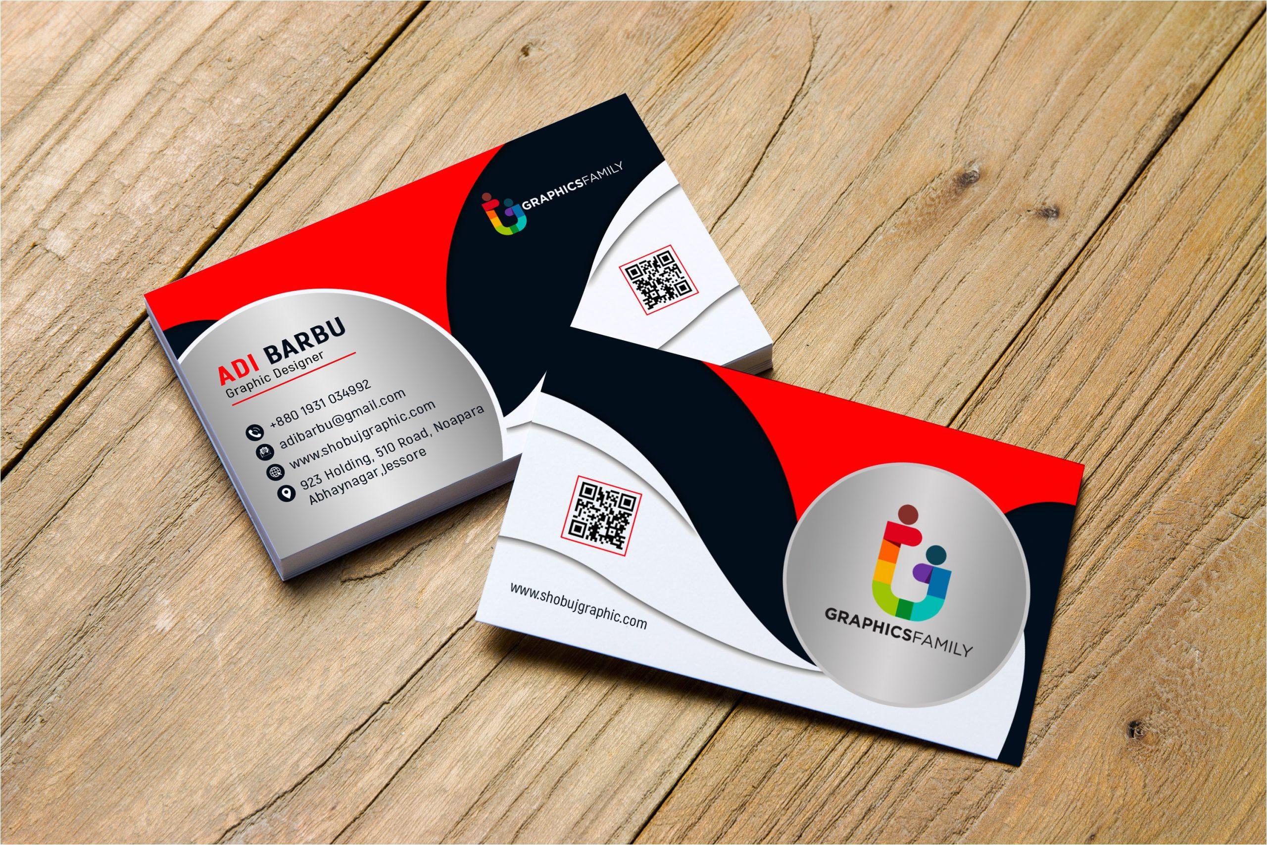 free psd creative business card design