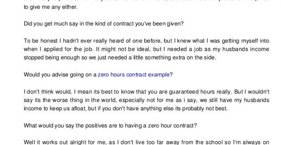 0 Hours Contract Template Download Free Zero Hours Contract Template