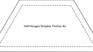 10 Half Hexagon Template Half Hexagon Template Fin 4in More Sizes Available See B