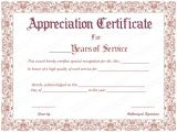 10 Year Service Award Certificate Template Free Printable Appreciation Certificate for Years Of Service