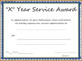 10 Year Service Award Certificate Template Years Of Service Award Templates Certificate Templates