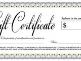 100 Gift Certificate Template Gift Certificate the Village Crossing