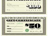 100 Gift Certificate Template Vector Money Gift Certificate Set Snap Vectors Clipart