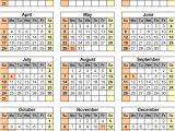 11×17 Calendar Template Word 11 17 Calendar Template for 2016 Free Calendar Template