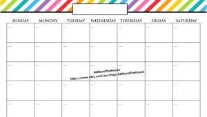 11×17 Calendar Template Word 11×17 Printable Calendar Calendar Printable Template