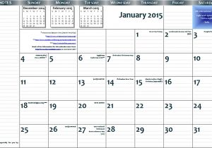 11×17 Calendar Template Word 2015 11 X17 Free Printable Page Per Month Wall Calendar