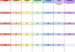 11×17 Calendar Template Word Free Printable Monthly Calendar 2017 11×17