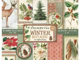 12 X 12 Cardstock Paper Stamperia Winter Botanic Card Stock Stamperia Christmas