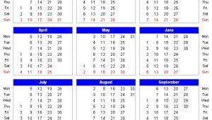 18 Month Calendar Template Month Calendar In Excel 2010 Quickly Insert A Monthly or