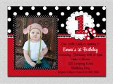 1st Birthday Invitation Card for Baby Girl Ladybug Birthday Invitation Ladybug 1st Birthday Party Red