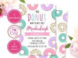 1st Birthday Invitation Card Free Download Donut Birthday Invitation Corjl Template Donut Grow Up