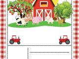 1st Birthday Invitation Card Free Download Free Farm Party Invitation Template Printable Con