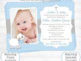 1st Birthday Invitation Card Free Download Lamb Baptism Invitation Boy First 1st Birthday Christening