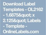 2.125 X 1.6875 Label Template the 25 Best Label Templates Ideas On Pinterest