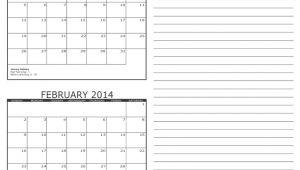 2 Month Calendar Template 2014 2 Month Calendar 2014