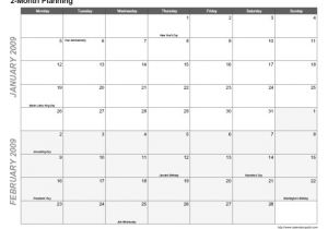 2 Month Calendar Template 2014 6 Best Images Of 2 Month Calendar Printable 2 Month
