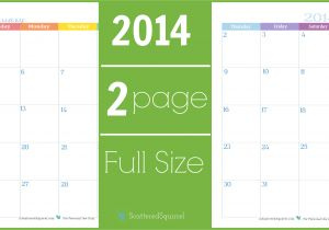 2 Month Calendar Template 2014 6 Best Images Of 2 Month Per Page Full Size Calendar