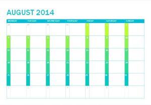2 Month Calendar Template 2014 6 Excel Calendar Template 2014 Exceltemplates