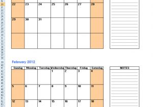2 Month Calendar Template 2014 Free Printable Calendars 2 Months Per Page 2018 Calendar